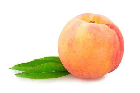 perzik, nectarine geïsoleerd op witte achtergrond