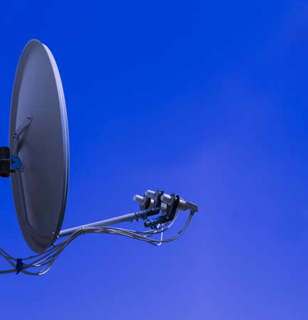 sattelite: satellite antenna on a background of clear sky Stock Photo
