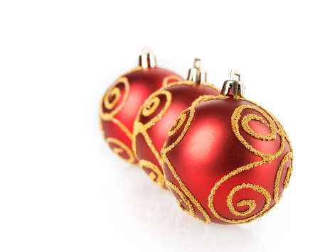 Christmas ball isolated on white background photo