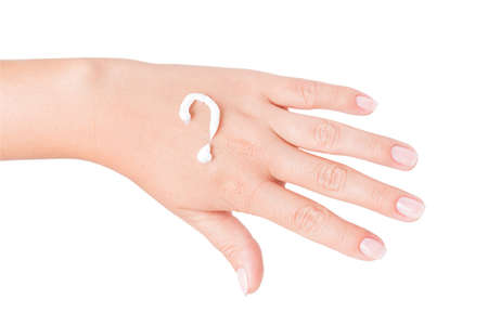hand cream isolated on white background photo