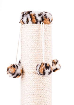 scratching post isolated on white background photo
