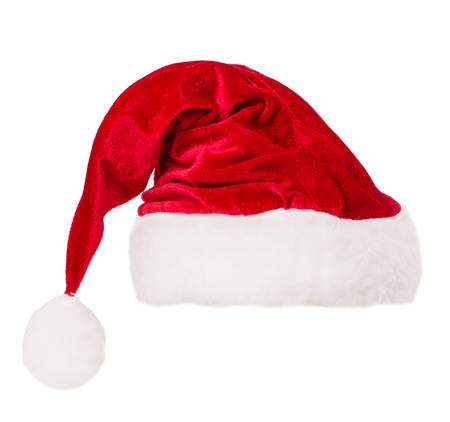 santa claus hat set isolated on white background photo