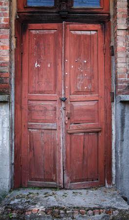 old door wooden retro