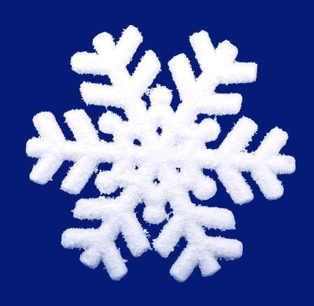 snowflake isolated on blue  photo