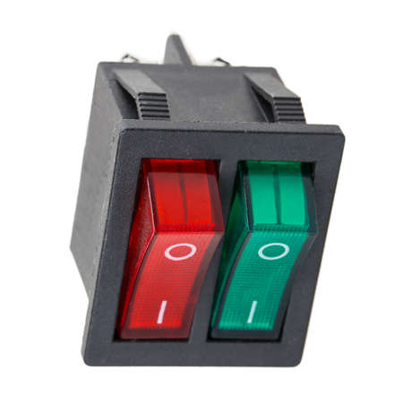control panel lights: switch Isolated on white