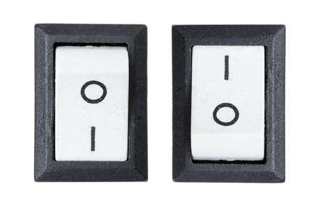 switch Isolated on white  photo