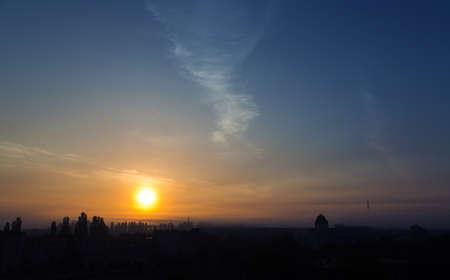twilight sky sun clouds landscape photo