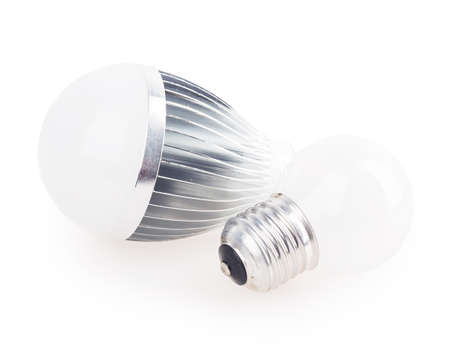 cree: led lamp light bulb isolated on white background Stock Photo