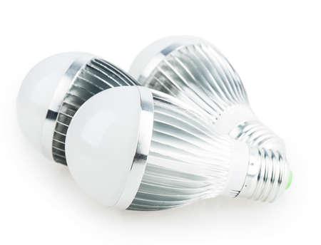 led lamp light bulb isolated on white background photo