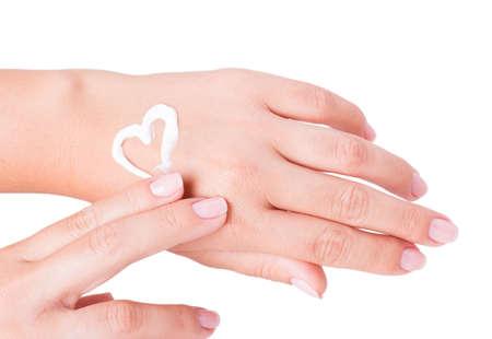 hand cream isolated on white background Stock Photo