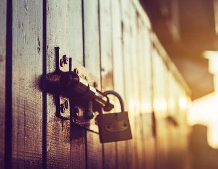 door lock old rusty background