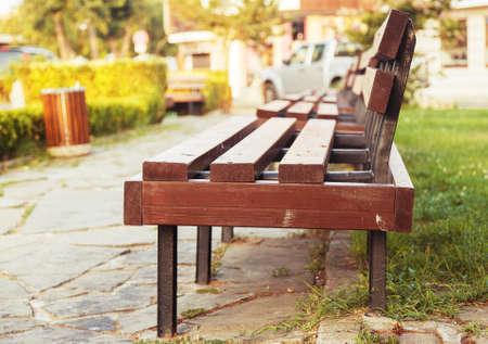 grass park bench day background photo
