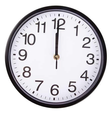 Uhr auf weißem Hintergrund