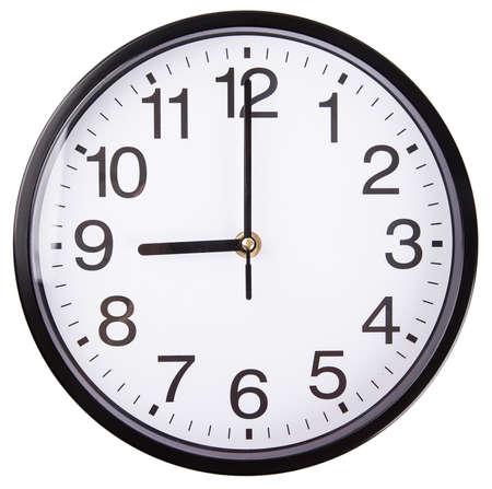 clockwise: clock Isolated on white background