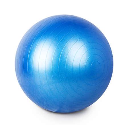 Ball für Gymnastik auf weißem Hintergrund