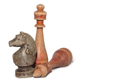 chessmen: chessmen isolated on white background