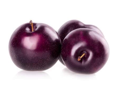 plum isolated on white background photo