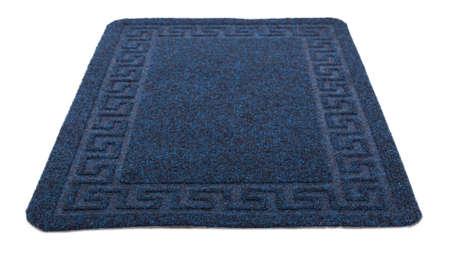 blue carpet Isolated on white background photo