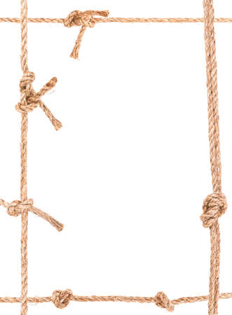 solated on white: rope knot frame solated on white background