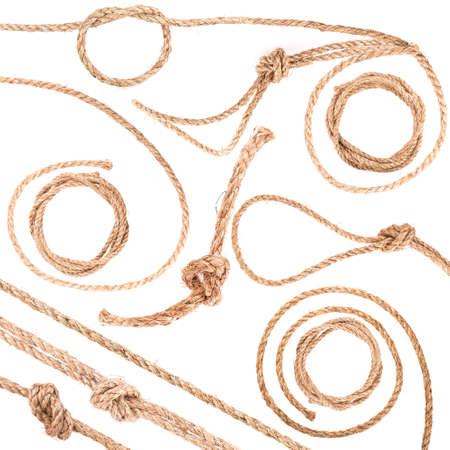 nudo: nudo de la cuerda aisladas sobre fondo blanco
