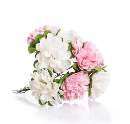 artificials flowers Isolated on white background photo