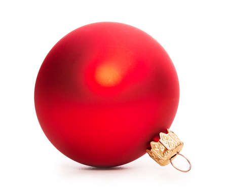 christmas baubles: Christmas ball Isolated on white background