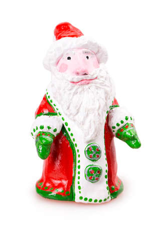 santa claus toy Isolated on white background photo