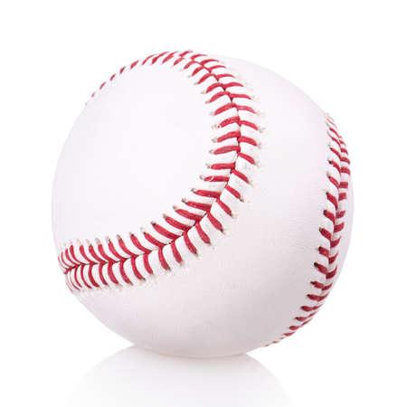 honkbal bal op een witte achtergrond Stockfoto
