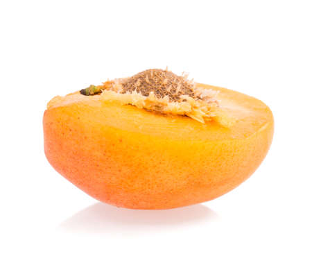 apricot, peach isolated on white background photo
