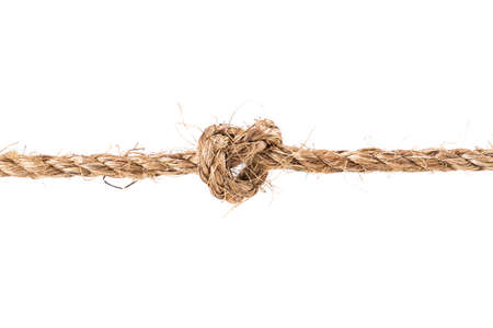 ロープの結び目が白い背景で隔離 写真素材