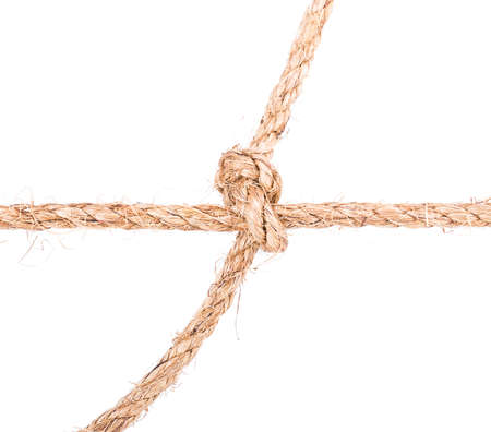 slipped: rope knot isolated on white background