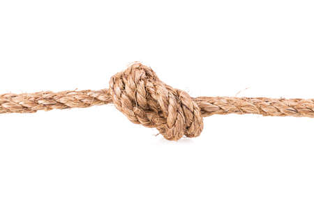 rope knot isolated on white background photo