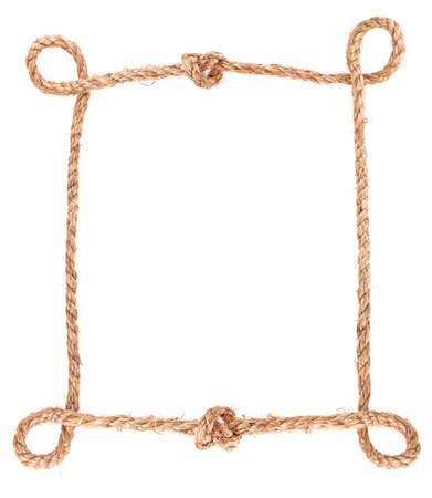 solated: rope knot frame solated on white background