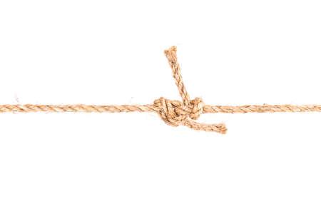 touw knoop geïsoleerd op witte achtergrond