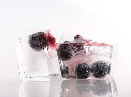 solated on white: blueberry berry ice solated on white background