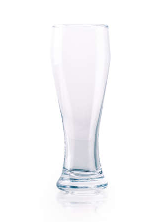 solated on white: glass of beer empty solated on white background