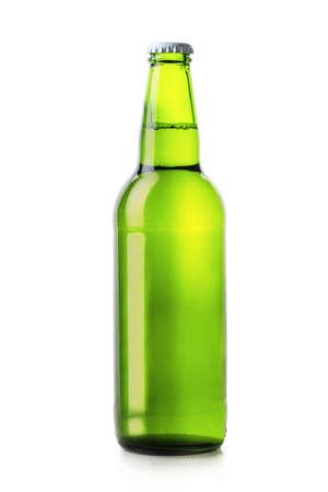 single beer bottle: beer bottle green isolated on white background Stock Photo