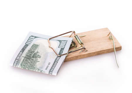 dollar trap Isolated on white background photo