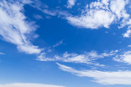 sky clouds blue day background Stock Photo