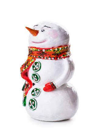 snowman Isolated on white background photo