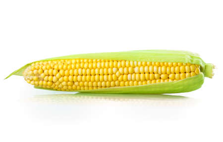 corn Isolated on white background Banque d'images