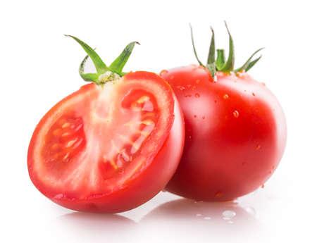 Tomaten isoliert auf weißem Hintergrund