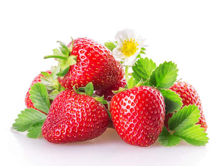 objet: fraises isolé sur fond blanc Banque d'images