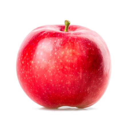 manzana roja: manzana roja aislada en el fondo blanco Foto de archivo