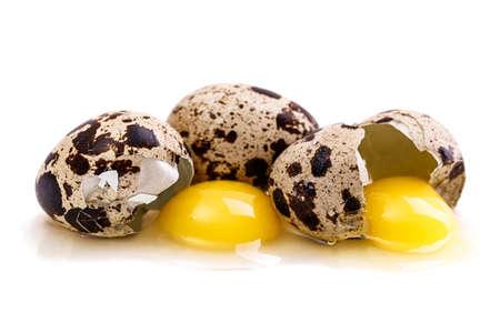 quail egg: quail egg Isolated on white background Stock Photo