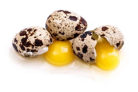 quail egg Isolated on white background Stock Photo