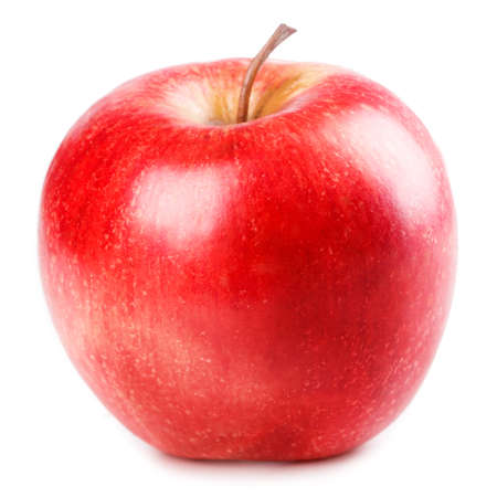 red  green: red Apple Isolated on white background Stock Photo