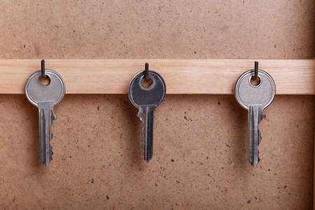 ama de llaves: ama de casa de madera de llave de la caja de la vendimia