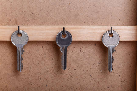key box: housekeeper key wood box vintage