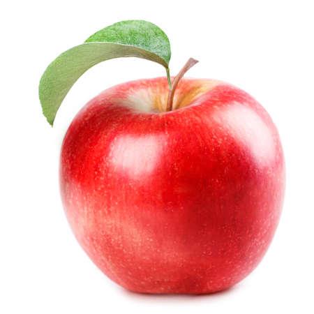pomme rouge: Apple rouge isolé sur fond blanc